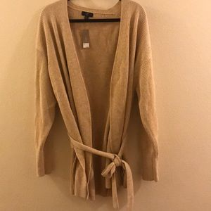 Bnwt J Crew XL tan sweater